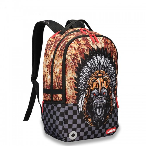 Raging flames lion the backstreet style backpack